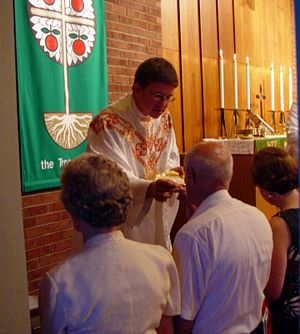 The Eucharist in the Lutheran Church.