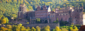 Heidelberg Castle as seen from the bridge