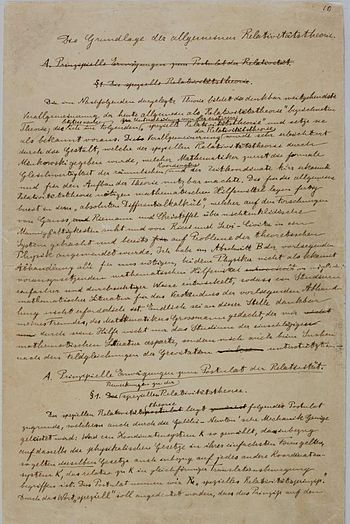 First page from the manuscript explaining the ...