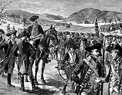 Illustration depicting the Continental Army du...