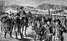 Illustration depicting the Continental Army