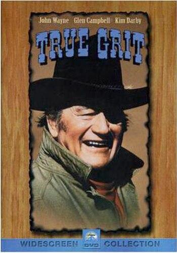 John Wayne as Rooster Cogburn in True Grit.