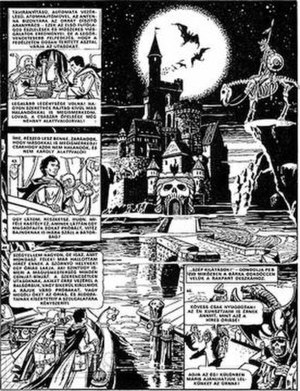 A page from Titkok bolygója (1982), a fantasy/...