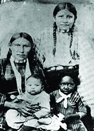 Family of Mixed African American and Native Am...