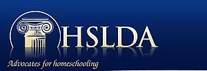 Logo of the Home School Legal Defense Association.