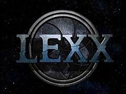 The opening logo of Lexx