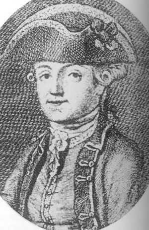 Engraving of Byron's father, Captain John