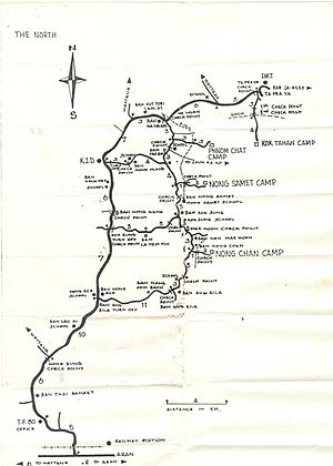 Map of Thai Border Refugee Camps, 1984; Distri...