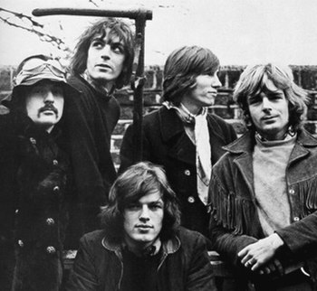 Pink Floyd in January 1968 Left to right: Maso...