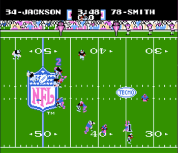 Gameplay of Tecmo Super Bowl