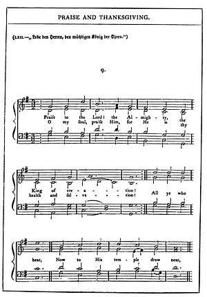 Words and music as published in The Chorale Bo...