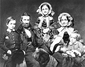 Silas Titus and Family circa 1858; L to R Sila...