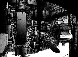 Double page from BLAME!