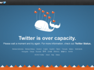 The Twitter fail whale error message.