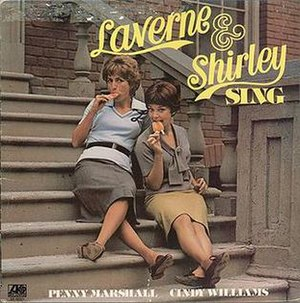 """Laverne & Shirley Sing""-1976 LP cover"