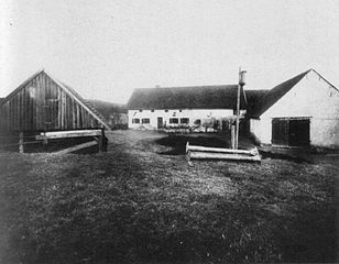 View of Hinterkaifeck from the south Date: April 5, 1922  Author: Andreas Biegleder