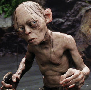 Gollum in Peter Jackson's live-action version ...