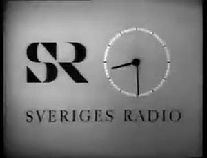 Sveriges Radio TV Clock in the 1960s.
