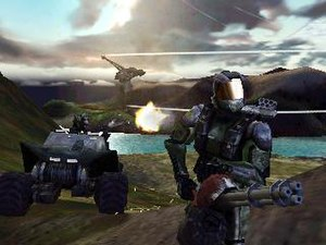 The first official screenshot of Halo.