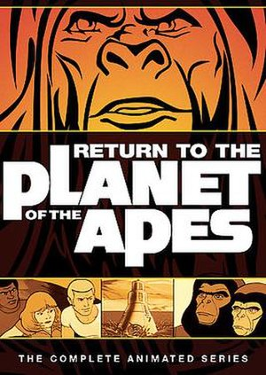 DVD Cover of Return to the Planet of the Apes.