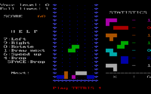 Screenshot of the 1986 IBM PC version