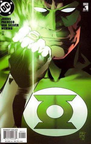 Cover to Green Lantern (vol. 4) #1. Art by Car...