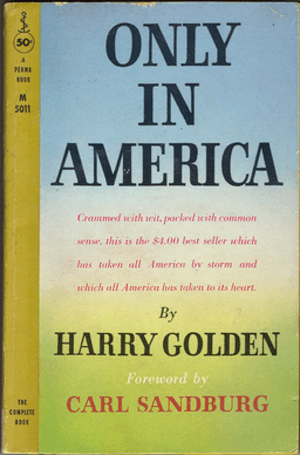 Only in America (1958) paperback
