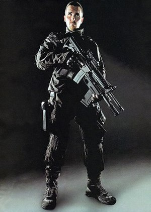 Bale as John Connor in Terminator Salvation