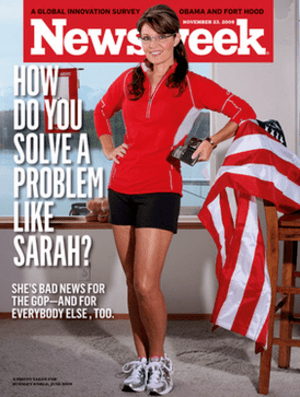 Controversial Newsweek cover, November 23, 2009