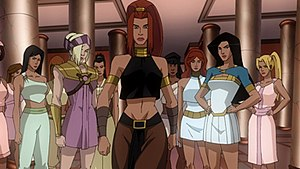 Artemis depicted in the 2009 animated Wonder W...