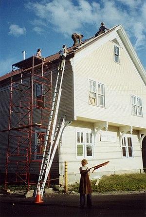 "Volunteer ""workerbees"" install a new..."