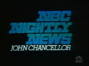 NBC Nightly News open, 1972-1975.