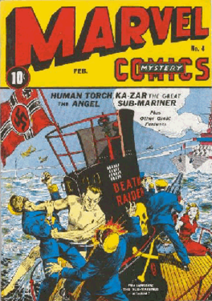 Namor's first cover appearance: Marvel Mystery...