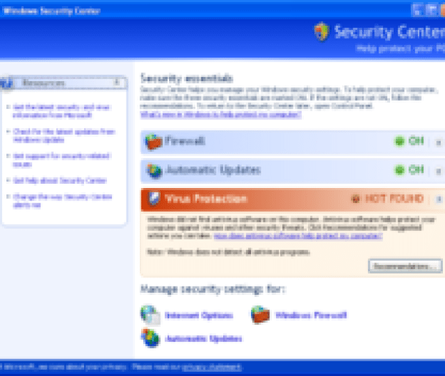 Windows Security Center Was Added In Service Pack 2