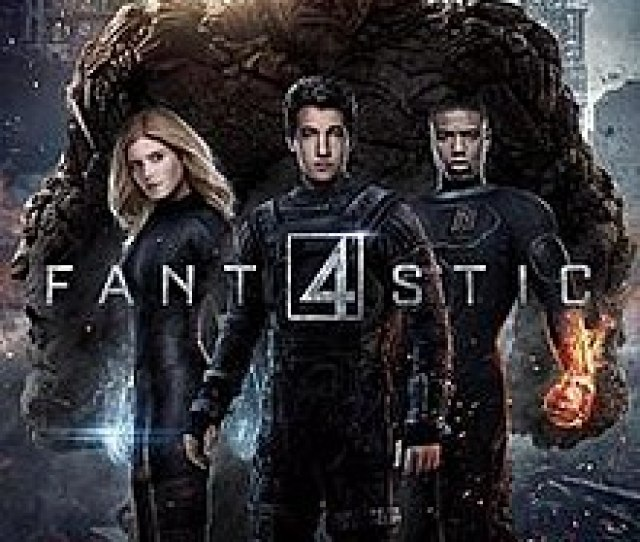 The Four Standing In Front Of The Viewer With The Films Title Toward Them And