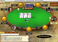 Screenshot of the Pokerstars GUI at a real-mon...