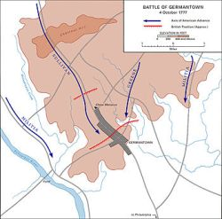 Map of the Battle of Germantown