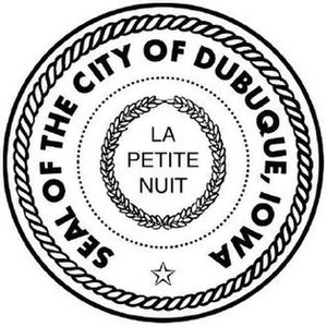Seal of the City of Dubuque, Iowa.
