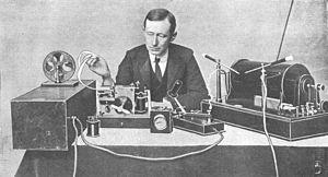 Marconi at desk