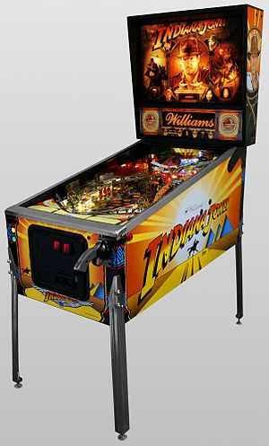 Pinball Machine, Indiana Jones, Oblique