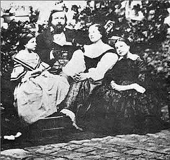 Théophile Gautier, his wife Ernestina Grisi-Ga...