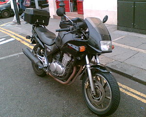 A popular type of courier motorbike in London,...