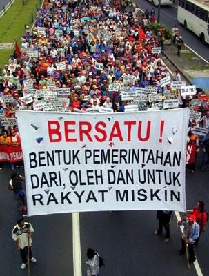 Pawai Hari Buruh 1 Mei 2003 di Jakarta