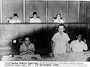 Rapat kedua KNIP yang diketuai oleh Sutan Syahrir pad atanggal 25-26 November 1945