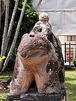 Patung Sang Budha menunggang Gajah koleksi Museum Simalungun, yang menunjukkan pengaruh ajaran Budha pada Masyarakat Simalungun.