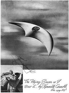 BETA berbentuk sabit seperti yang digambarkan oleh Kenneth Arnold.