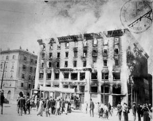 L'incendio dell'Hotel Balkan