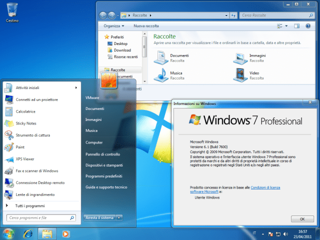 Desktop di Windows 7