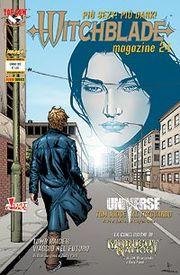 La copertina dell'ultimo numero di Witchblade Magazine.
