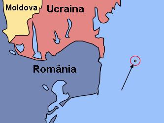 Localizarea Insulei Şerpilor